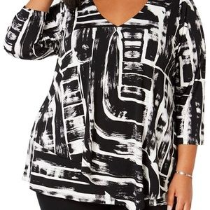 Alfani Womens Tiered Pullover Top